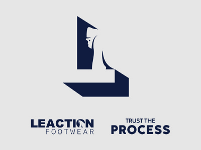 Leaction Logo flat minimal icon design illustration branding vector logo