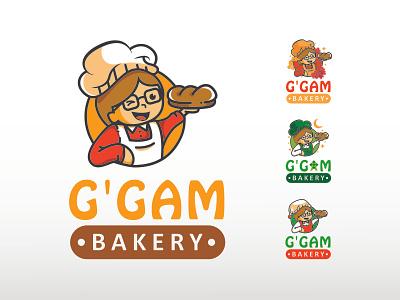 GGAM Bakery Logo icon illustration minimal flat design branding vector logo