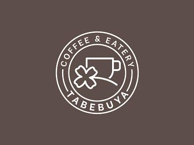 Design Logo Tabebuya coffee cup caffe coffeeshop coffee vintage typography minimal vector design branding logo
