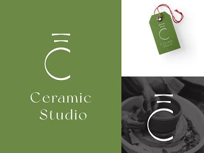 Concept Logo EC Ceramic Studio design branding vector logo