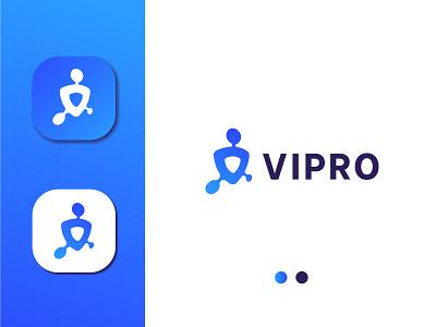 Virus Protection Logo virus health protection flat icon minimal design branding vector logo