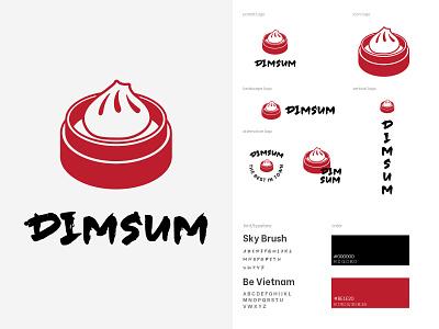 DIMSUM LOGO asia food dimsum flat minimal design branding vector logo