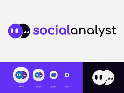Social Analyst Design Logo insecure social life socialization illustration ill emot person psychics psychology analyst social icon minimal design branding vector logo
