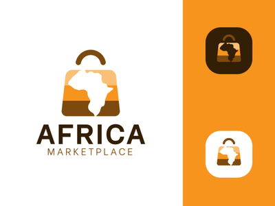 Africa Marketplace Design Logo Concpets startup marketplace africa icon design branding vector logo