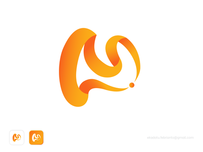 Concept M Logo minimal flat design branding vector logo