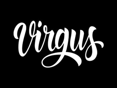 Virgus lettering for Virgulillas crew lettering calligraphy typography brush caligrafia logo branding barcelona virgulillas adriamolins