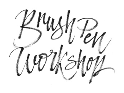 Brush pen workshop brush lettering script calligraphy type typography letters brand display