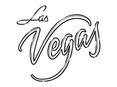 Las Vegas lettering calligraphy typography brush caligrafia logo branding barcelona virgulillas adria molins effects neon