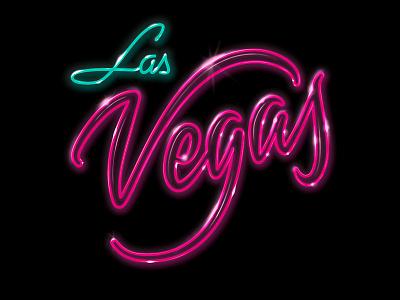 Las Vegas color lettering calligraphy typography brush caligrafia logo branding barcelona virgulillas adria molins effects neon