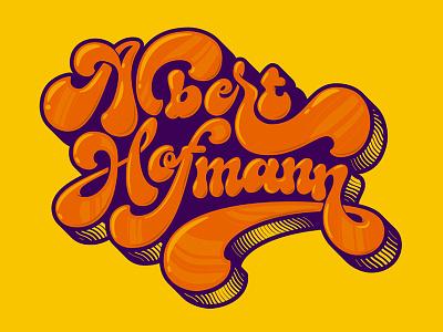 Albert Hofmann, psychedelic lettering lettering calligraphy typography brush caligrafia logo branding barcelona virgulillas adriamolins