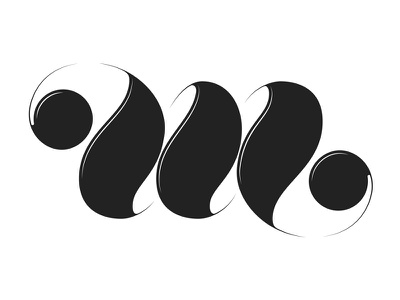 M ambigram  logotipe monogram ambigram m type typography lettering calligraphy bold black barcelona adria molins molins