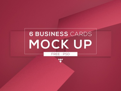 6 Business cards - Mock Up Free