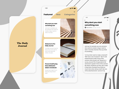The Daily Journal - UI Design Concept designer ui designer ui indonesia xd adobe xd app design app ux journal user interface userinterface uidesign uiux ui design concept ui design