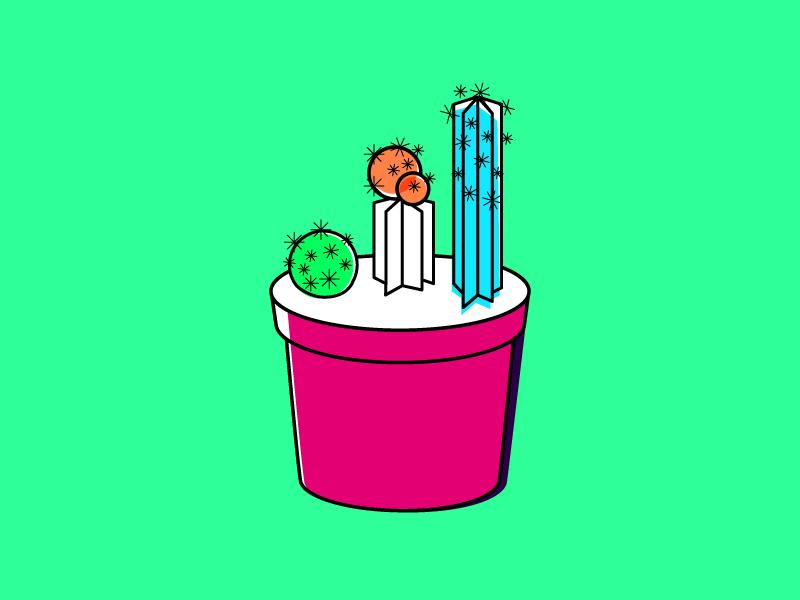 Cactus Sprouting weeklyillochallenge vector plant abstract minimal illustration cactus