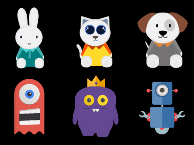 Sticker Designs kids characters illustrations chat stickers mobile
