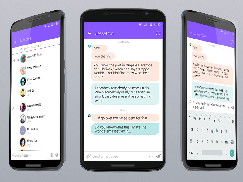 Chat programs for android
