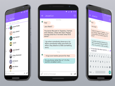 Android Chat App vector app android