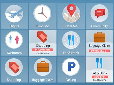 Airport Icons design icon
