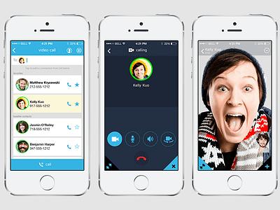 Video Call ui mobile ios