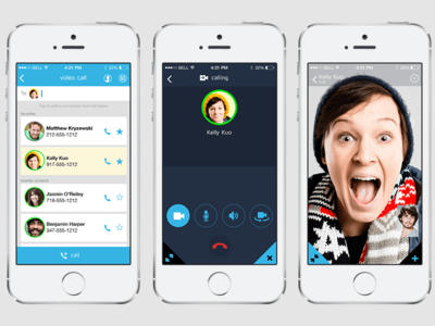 Video Call ui mobile ios