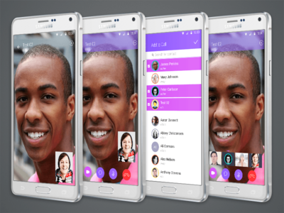 Video Call App: Material Design video call material design android app vector