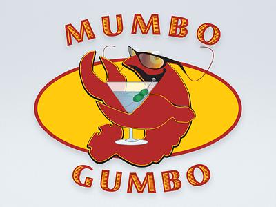 Mumbo Gumbos Logo illustration branding hamptons restaurant logo