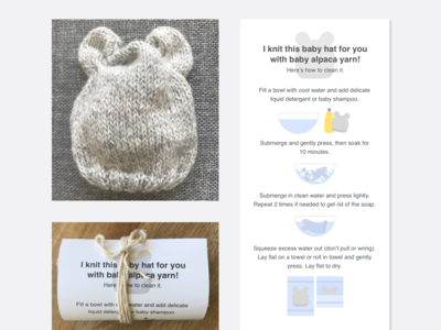 🧶 Knitting care instructions 🧶