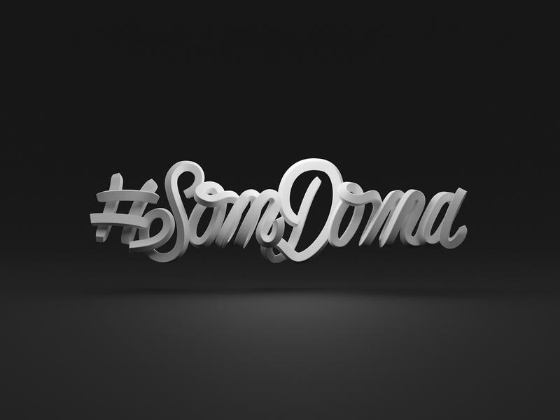 Som Doma - I am at home lettering 3d typography 3dtypo 3dtype render cycles render 3dmodel blender b3d blender3d slovakia imathome somdoma