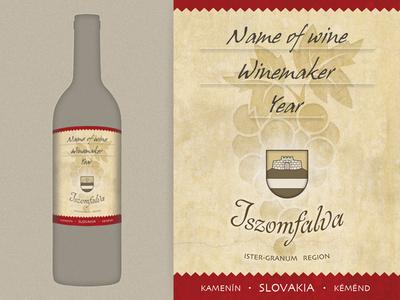 Iszomfalva wine label slovakia kamenin iszomfalva