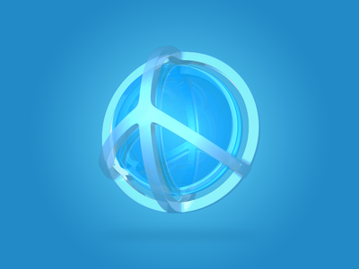 Peaceball peaceball peace ball worldpeace game blue 3d