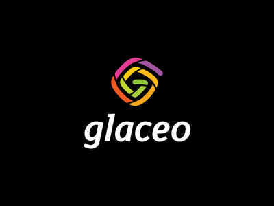 Glaceo glaceo logo colors spiral identity