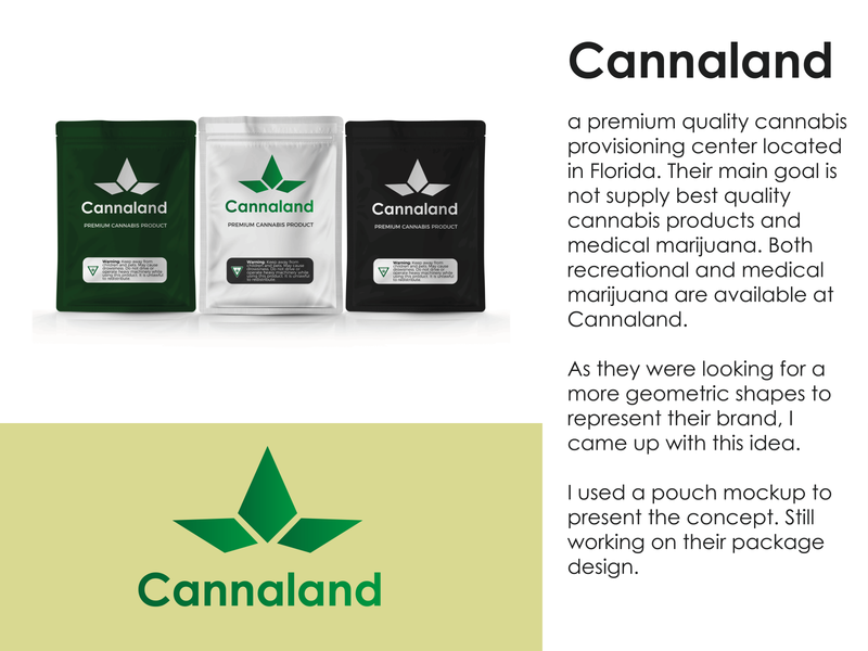 Cannabis company logo - CannaLand design corporate logo logodesign branding business logo geometric minimal weed logo package design cannabis product cannabis provisioning center weed medical marijuana cannabis logo