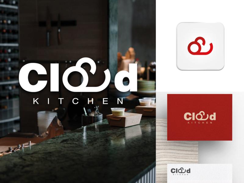 Cloud Kitchen Logo Design & Branding business logo branding design food kitchen startup branding cloud iconinc minimal logo design restaurant logo cloud kitchen kitchen logo