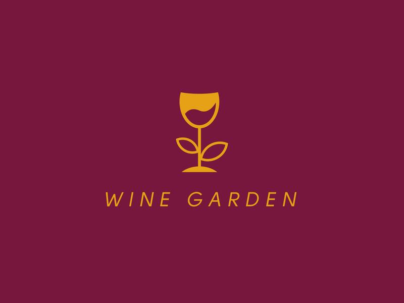Wine Garden Logo logo creative logo logodesign branding business logo flat minimalist minimal logo design wine logo restaurant bar bar logo wine