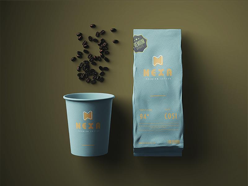 Nexa Premium Coffee (Logo Design & Branding) coffee logo coffee branding brand coffee shop logo coffee shop restaurant logodesignersclub logodesigner branding logodesign logo coffee bean roasted coffee roast brazil coffee