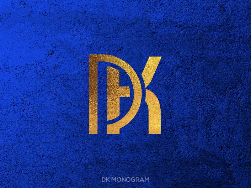 DK Monogram Logo Mockup logomark monogram dk letter dk logo dk monogram letter dk