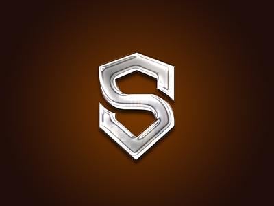 Letter S Monogram chrome steel fun minimal logo monogram letter mark monogram letter s lettering letter