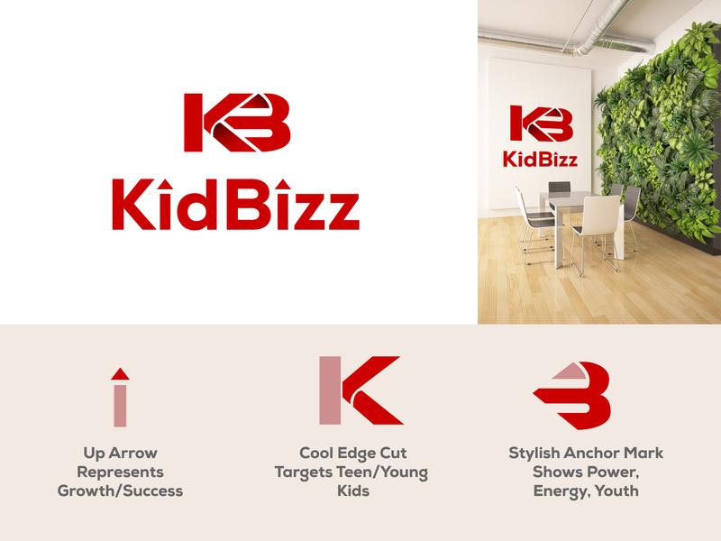 KidBizz Logo Branding branding logo design youtube money startup entrepreneur business youtube channel teen kids