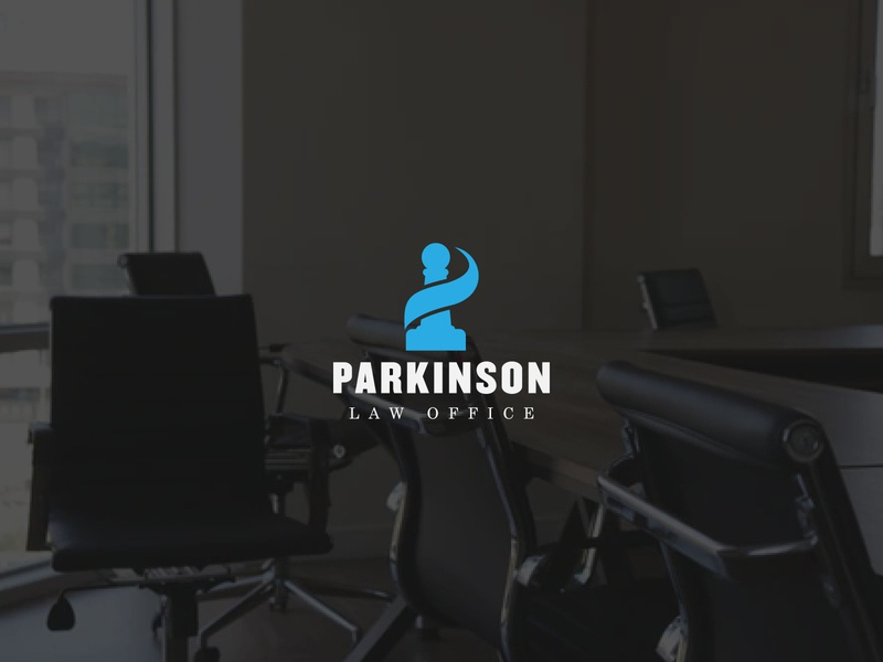 Parkinson Law Office Logo corporate logo branding designer logo designer logo designs logodesign logo attorney  law attorney law office office law