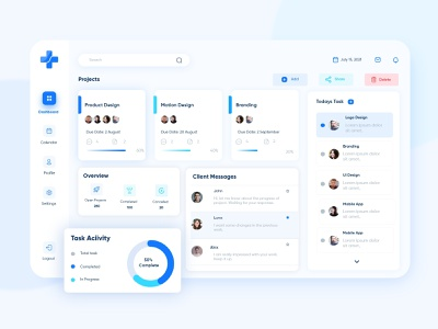 Project Management Dashboard user experience design user interface design web application saas saas app uxui ui design ux design project management