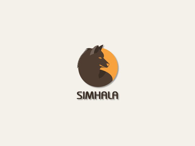 SIMHALA - Mascot Logo Project wolf logo minimal flat wolf mascot design logo