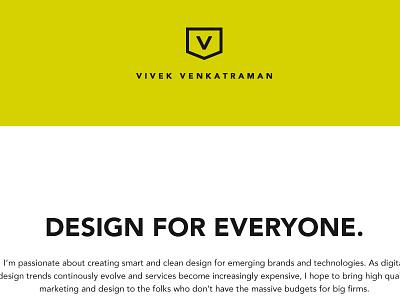 Portfolio Home Page redesign web design flat ui flat ui yellow portfolio minimalism web