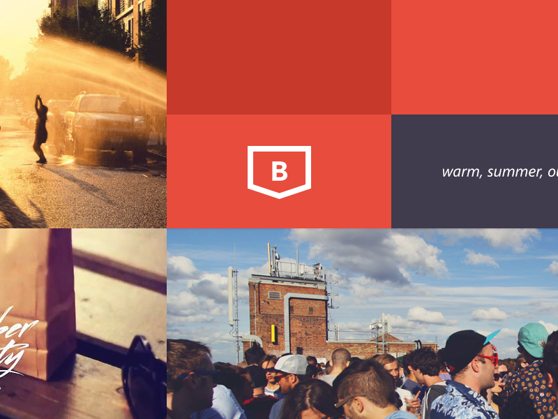 Moodboard Idea branding mood mood board warm red flat logo identity summer brooklyn minimal web design