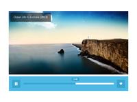 Minimal Video Widget minimal flat video widget icon web ui interface
