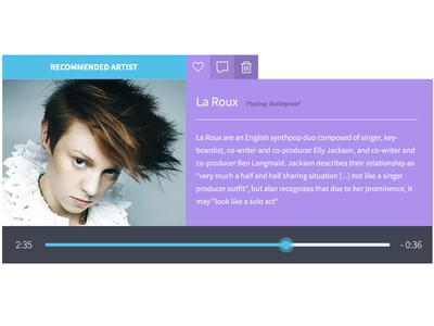 Music UI Widget
