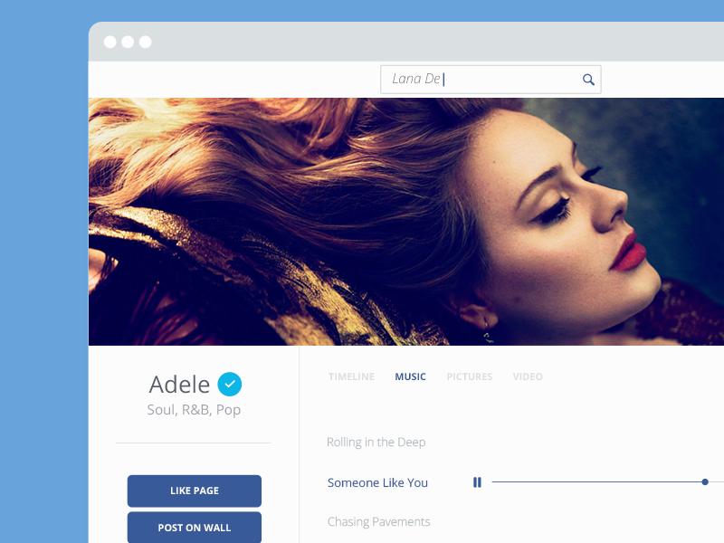 Facebook Artist  facebook web redesign minimal grid user interface mobile app design