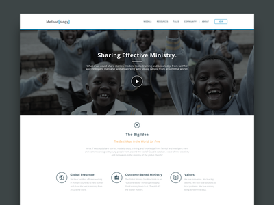 Ministry Homepage church ministry website web design ui ux interface flat design flat harbrco retina redesign