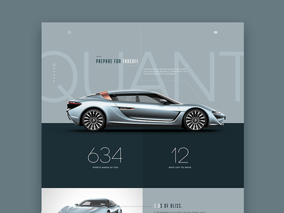 Concept Car Site website layout ui minimal flat redesign interface web design clean user interface