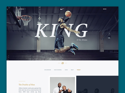 Lebron James Site website layout ui minimal redesign interface web design clean basketball lebron sports