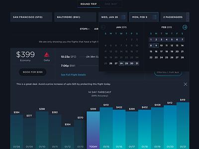 FLYR Web App user interface data visualization graphs flyr travel web design app visual futuristic dark ui uiux layout